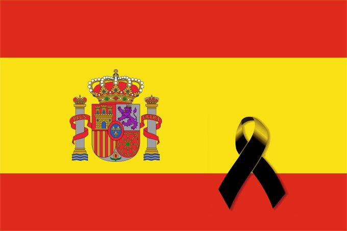Bandera de España, luto